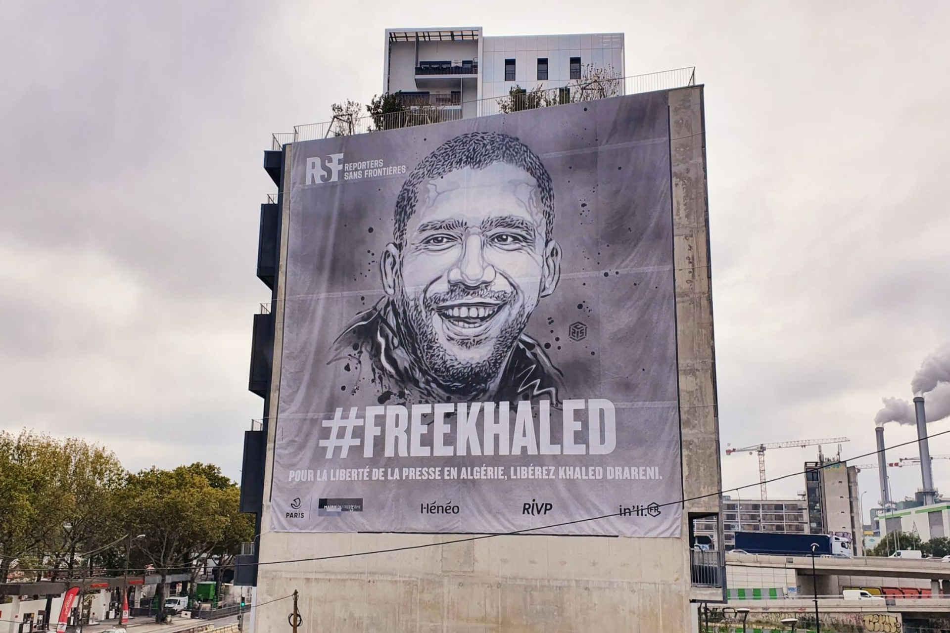 Christophe Deloire, secrétaire général de RSF: cette bâche à l'effigie de Khaled Drareni est à la mesure du scandale que représente sa condamnation